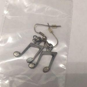 Jewelry - Musical note earrings